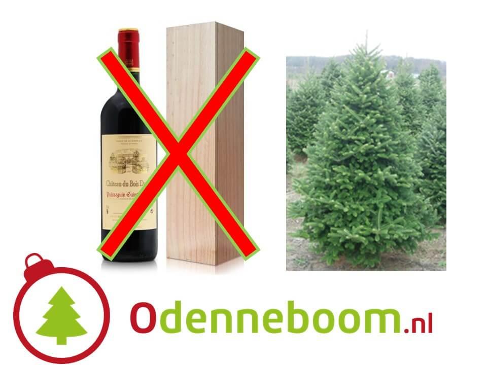 Geen fles wijn als relatiegeschenk, maar een echte kerstboom thuis bezorgd